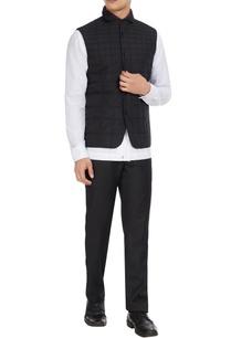 black-quilted-nylon-waistcoat-jacket