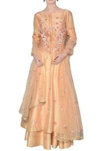orange-chanderi-silk-floral-embroidered-anarkali-set