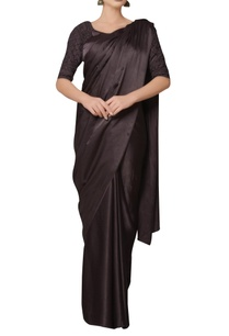 brown-satin-silk-saree-with-embroidered-blouse