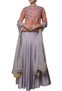lobster-pink-chanderi-silk-dori-embroidered-peplum-blouse-with-lehenga
