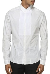 white-pleated-yoke-shirt