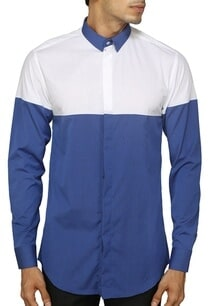 white-and-blue-color-blocked-shirt