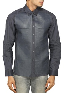 grey-bonded-leather-shirt