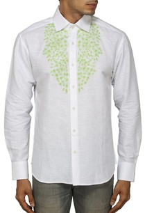 white-shirt-with-green-floral-embroidery