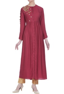 gathered-pleated-tunic-with-embroidery