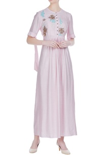 gathered-pleated-tunic-with-bow-detail-sleeves
