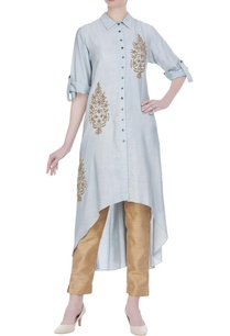 leaf-motif-embroidered-tunic