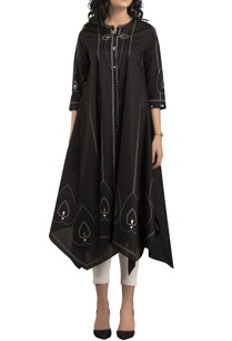 black-ivory-screen-printed-kurta-set