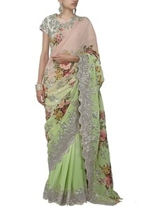 pastel-pink-and-mint-green-floral-applique-sari