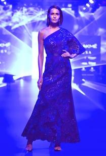 one-shoulder-floral-applique-gown