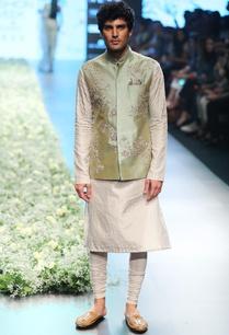 apple-green-silk-waistcoat-set