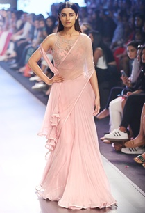 powder-pink-chiffon-pre-draped-sari-corset-blouse