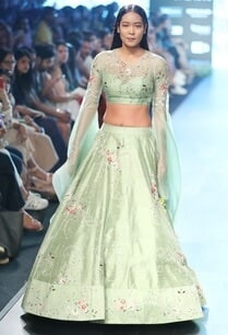 apple-green-raw-silk-lehenga-set