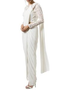 ivory-floral-embellished-sari-set
