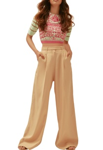beige-twill-embroidered-pants