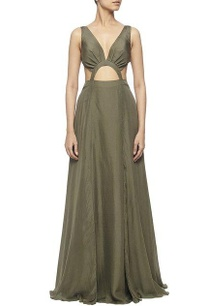 olive-green-silk-cut-out-maxi-dress
