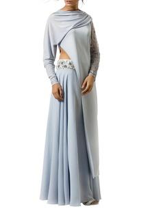 ice-blue-draped-sleeve-lehenga-set
