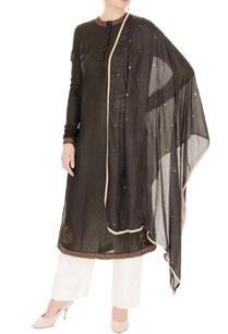 black-thread-embroidered-kurta-set