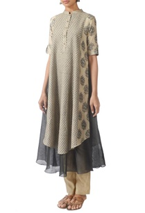 beige-grey-motif-printed-layered-kurta