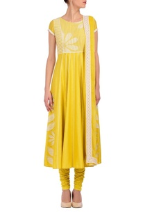 canary-yellow-ivory-floral-printed-kurta-set