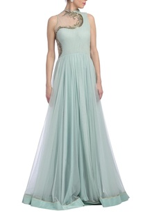 ice-blue-embellished-flared-draped-gown
