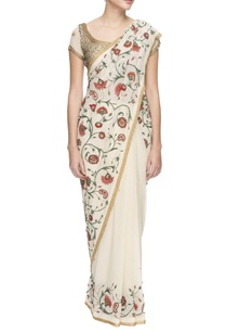 white-chiffon-floral-thread-work-sequin-sari-with-blouse