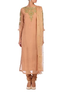 pale-peach-gold-embroidered-kurta-set