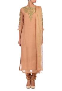 pale-peach-gold-embroidered-kurta-set