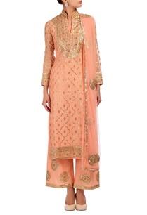 rose-pink-gold-silver-embroidered-kurta-set