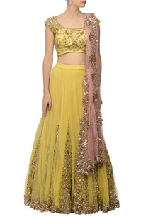 canary-yellow-rose-pink-embellished-lehenga-set