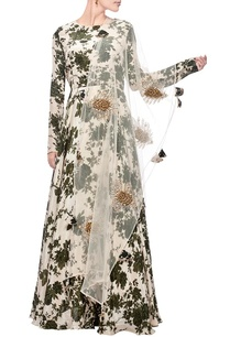 ivory-moss-green-floral-printed-anarkali-with-dupatta