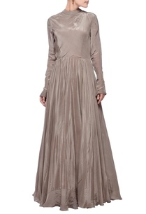 metal-grey-turtle-neck-gown
