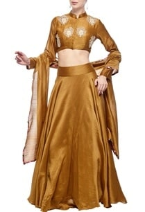 mustard-rose-embroidered-lehenga-set