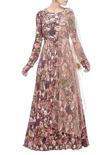 deep-light-pink-rose-printed-anarkali-set