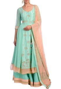 ice-blue-peach-floral-embroidered-anarkali-set