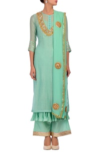 aqua-gold-gota-embroidered-layered-kurta-set