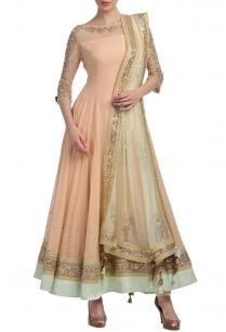 peach-mint-floral-embellished-anarkali-set