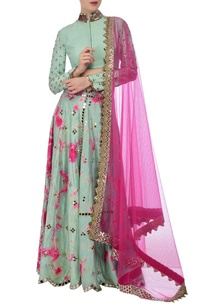 aqua-fuschia-tie-dye-mirror-embroidered-lehenga-set