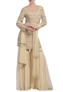 cream-embroiderd-sharara-set