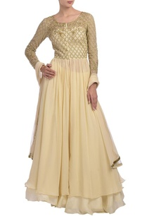 beige-embellished-anarkali-set