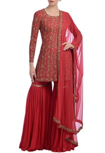 coral-floral-embroidered-sharara-set