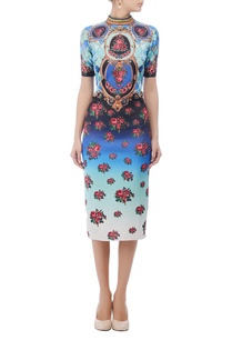 sky-blue-printed-embellished-bodycon-dress