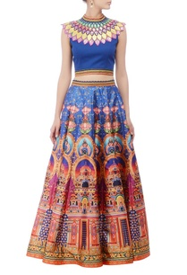 royal-blue-embellished-lehenga-set