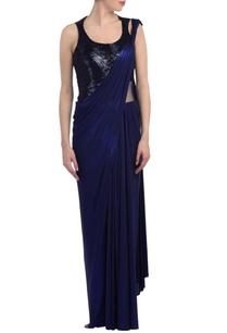 royal-blue-embellished-sari-gown