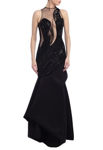 black-embellished-gown