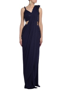 dark-blue-embellished-sari-gown