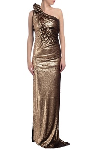 gold-black-sequin-embellished-one-shoulder-gown