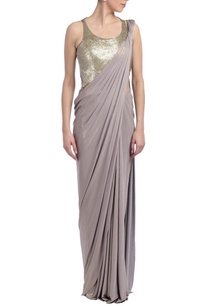 grey-embellished-sari-gown