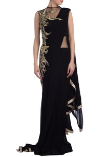 black-sari-gown-with-embroidery