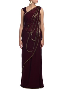 wine-embroidered-sari-set
